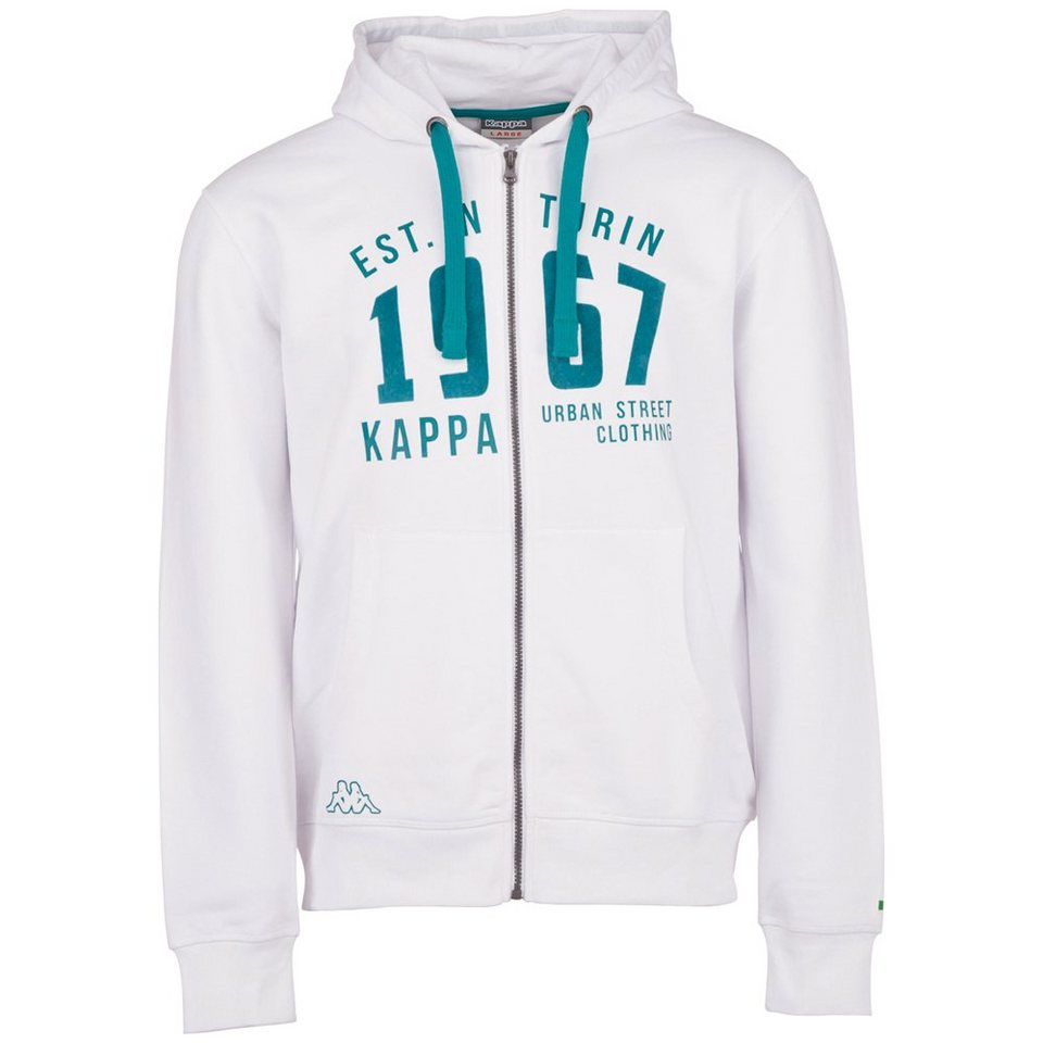 KAPPA Sweatjacke »ZESIRO« in white