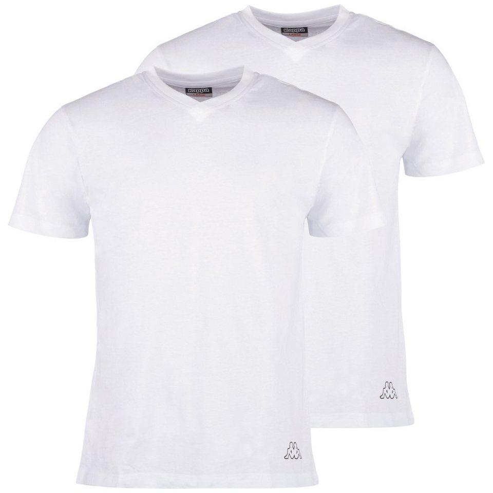 KAPPA T-Shirt Doppelpack V-Ausschnitt »EINAR 2« in white