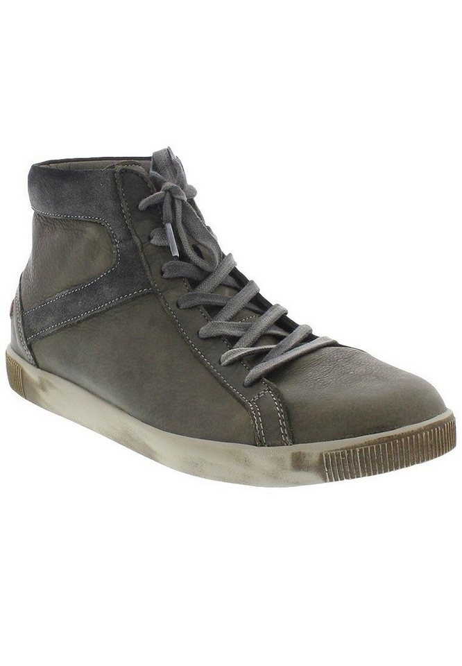 softinos Sneaker high »Taggart washed leather« in grün
