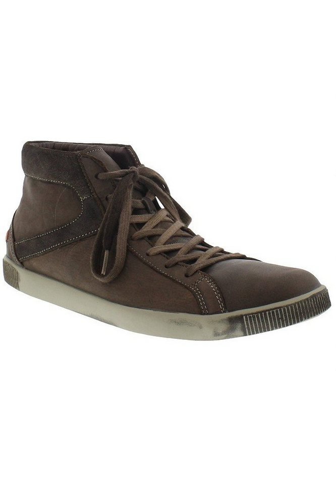 softinos Sneaker high »Taggart washed leather« in braun