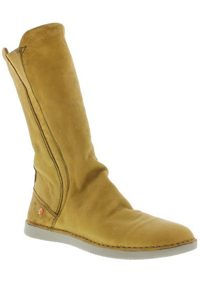 softinos Stiefel,Damenschuhe,Winterstiefel »TEYA328SOF washed leather« in camel/beige