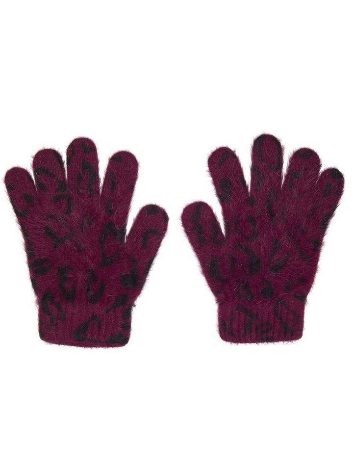 Only Bedruckte Strick- Handschuhe in Windsor Wine