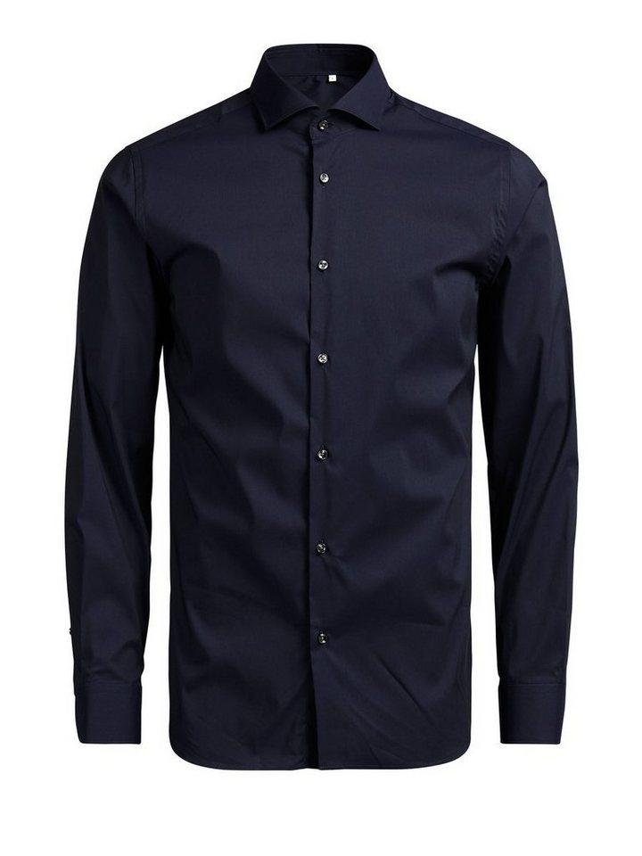 Jack & Jones Cutaway-Kragen- Businesshemd in Navy Blazer 1