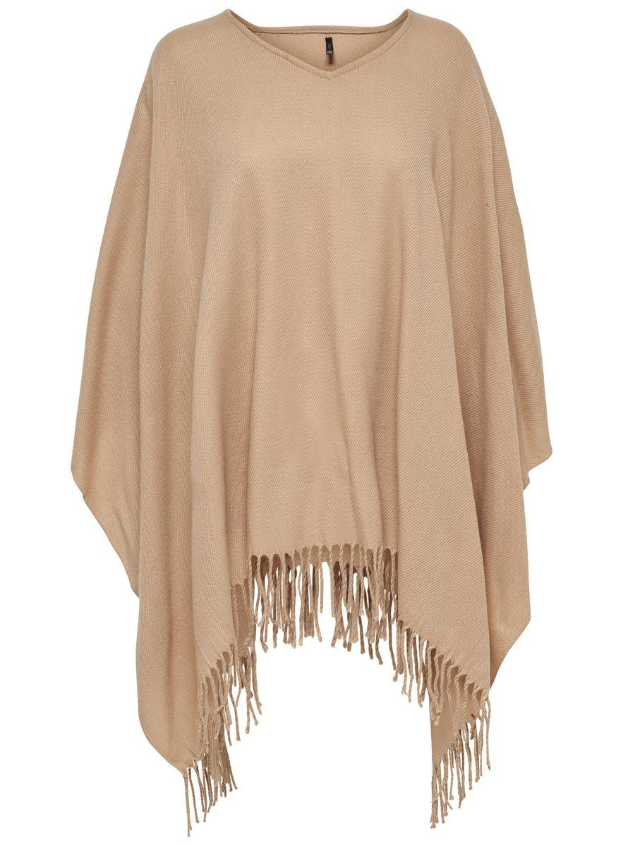 Only Einfarbiger Poncho