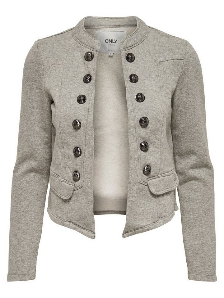 Only Sweat- Blazer in Light Grey Melange