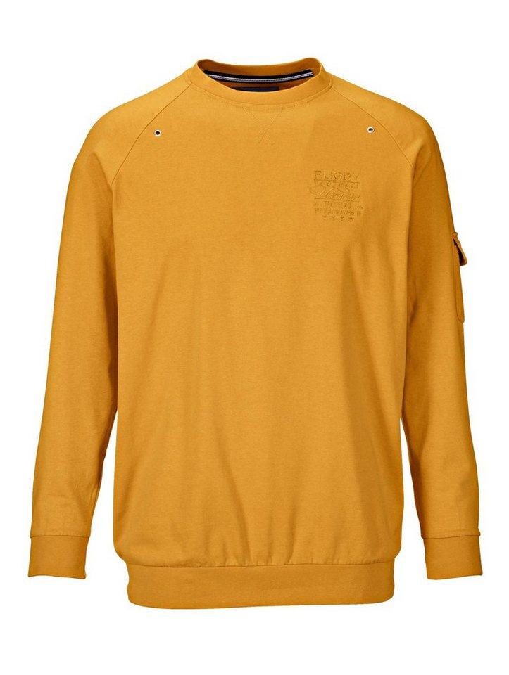 Babista Sweatshirt mit Arm-Tasche in messingfarben