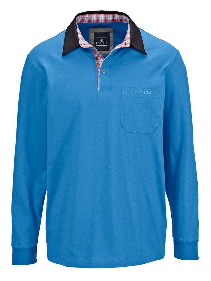 f6bc3c7149c9af Babista Poloshirt mit kariertem Webbesatz im Kragen online kaufen