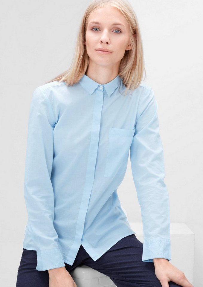 s.Oliver RED LABEL Bluse mit verdeckter Knopfleiste in sky blue dobby