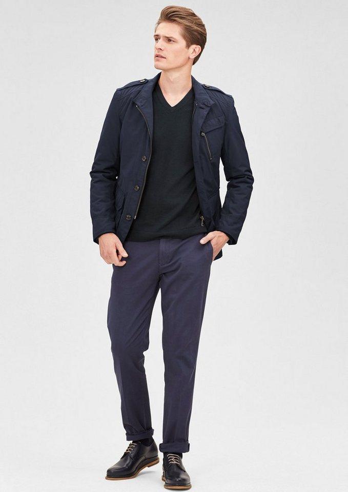 s.Oliver BLACK LABEL Outdoor-Jacke in Nylon-Optik in storm blue