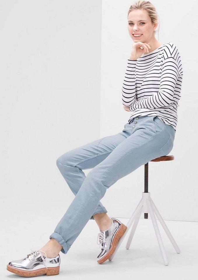 s.Oliver RED LABEL Shape Slim: Colored Stretch-Jeans in blue stretch/medium