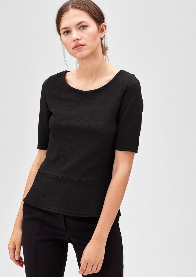 s.Oliver BLACK LABEL T-Shirt mit Struktur-Muster in black
