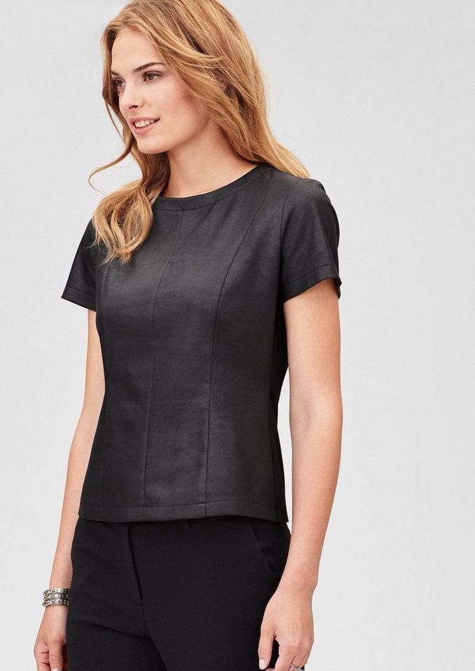 s.Oliver BLACK LABEL Shirt in Leder-Optik in black
