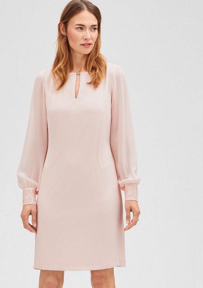 s.Oliver BLACK LABEL Elegantes Chiffon-Kleid in cream pink
