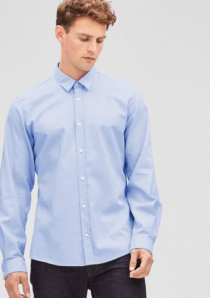 s.Oliver BLACK LABEL Modern Fit: Oxford-Hemd in placid blue melange