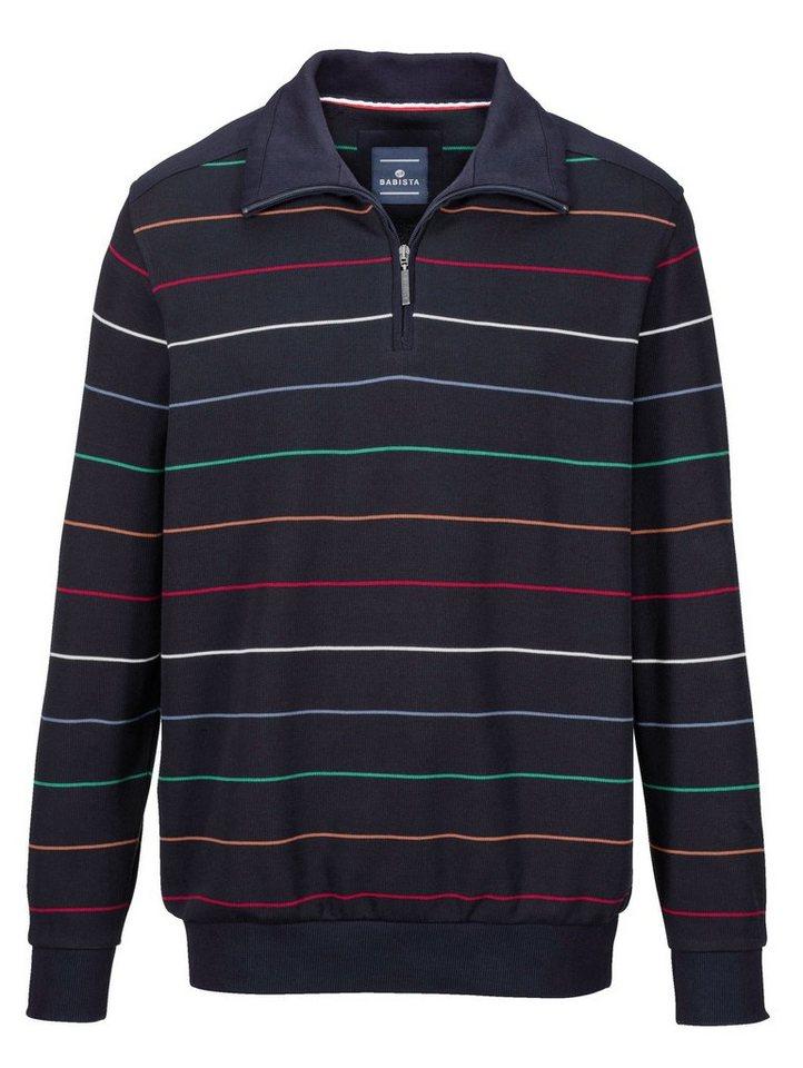Babista Sweatshirt mit Reißverschluss in marine-bunt