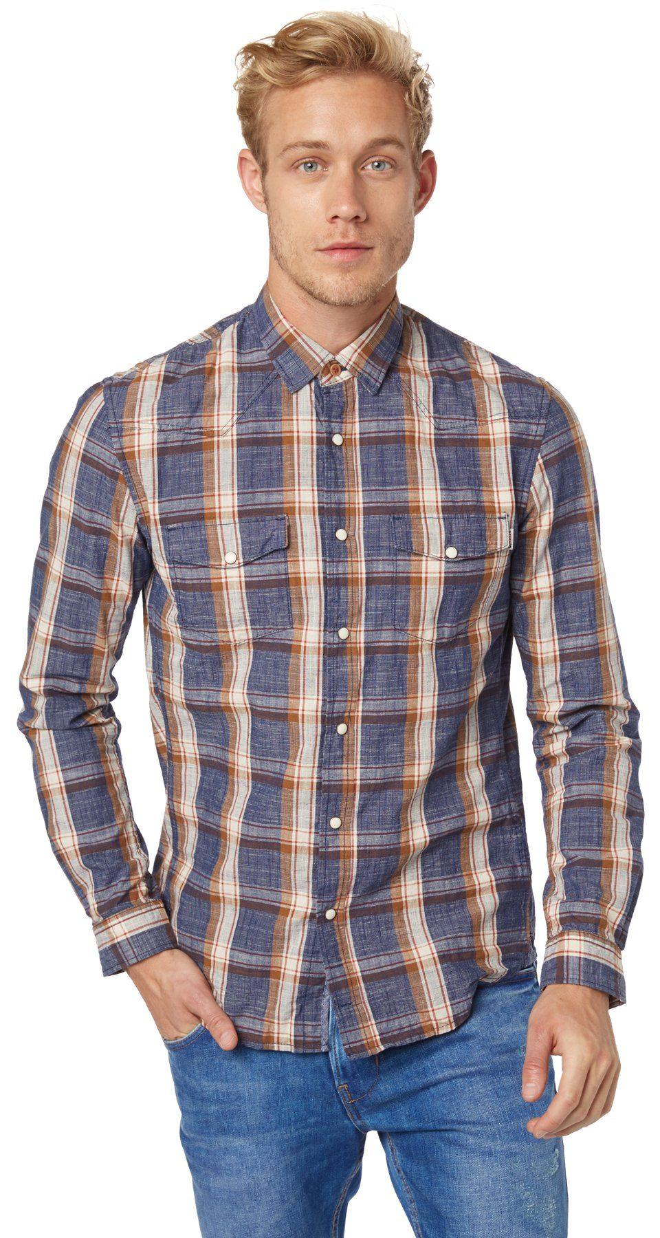 TOM TAILOR DENIM Hemd »cooles Hemd mit Muster«