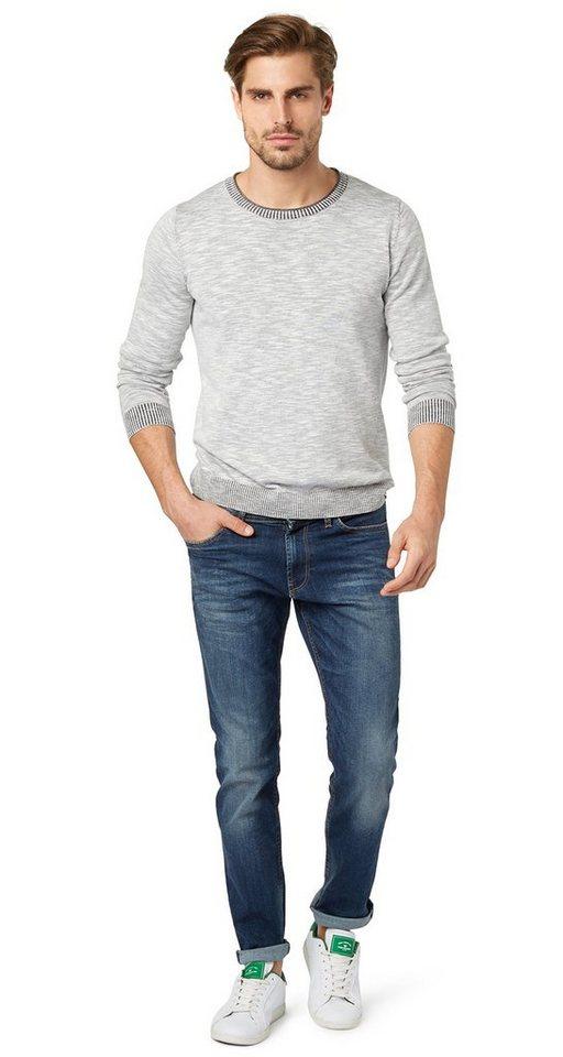TOM TAILOR Jeans »Josh regular slim« in blue denim grey cast