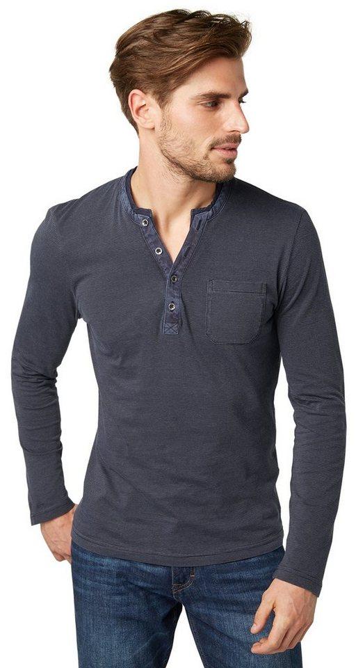 TOM TAILOR T-Shirt »Langarm-Shirt im Lagen-Look« in navy