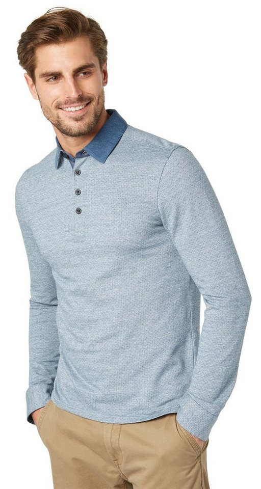TOM TAILOR Poloshirt »Polo-Shirt mit Punkten« in ensign blue
