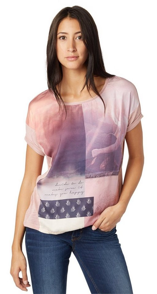 TOM TAILOR T-Shirt »T-Shirt mit Foto-Collagen-Print« in Taste of berry