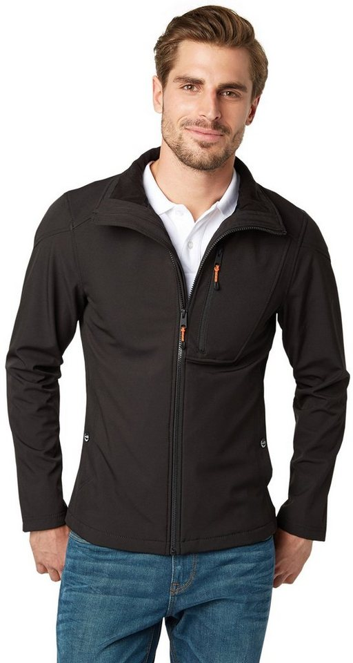 TOM TAILOR Jacke »Softshell Outdoor-Jacke« in black