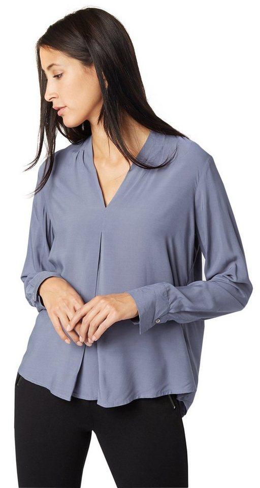 TOM TAILOR Bluse »modern fluent blouse« in steal blue
