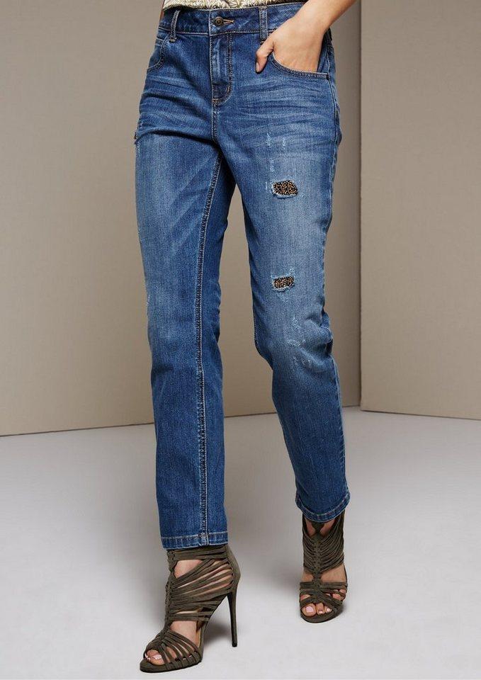 comma extravagante 5 pocket jeans mit glitzerndem paillettenbesatz online kaufen otto. Black Bedroom Furniture Sets. Home Design Ideas