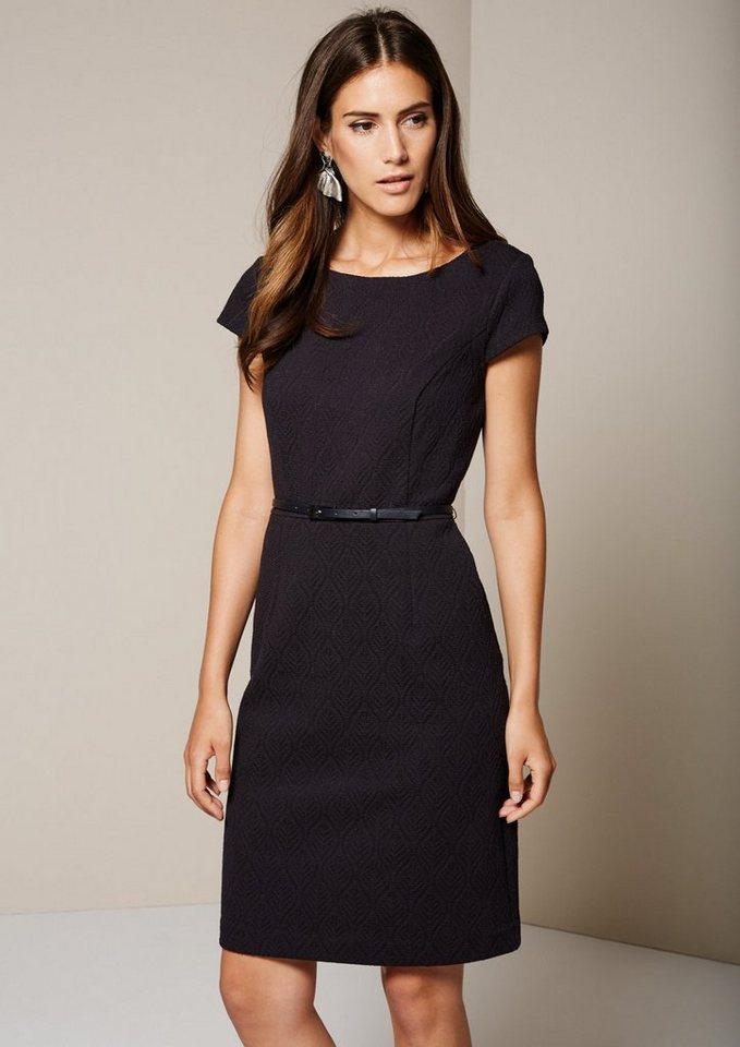 COMMA Edles Kleid mit aufregendem Jacquardmuster in tinte jaquard