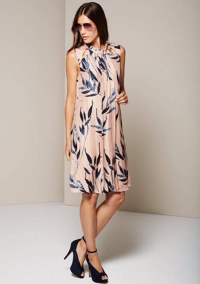 COMMA Aufregendes Viskosekleid mit dekorativem Muster in tinte AOP