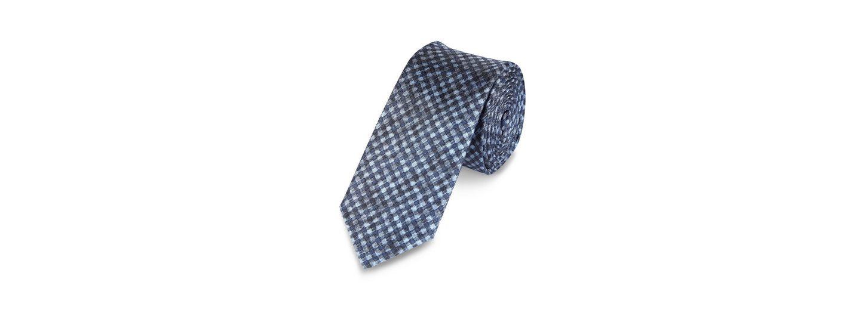 s.Oliver PREMIUM Karierte Seiden-Krawatte