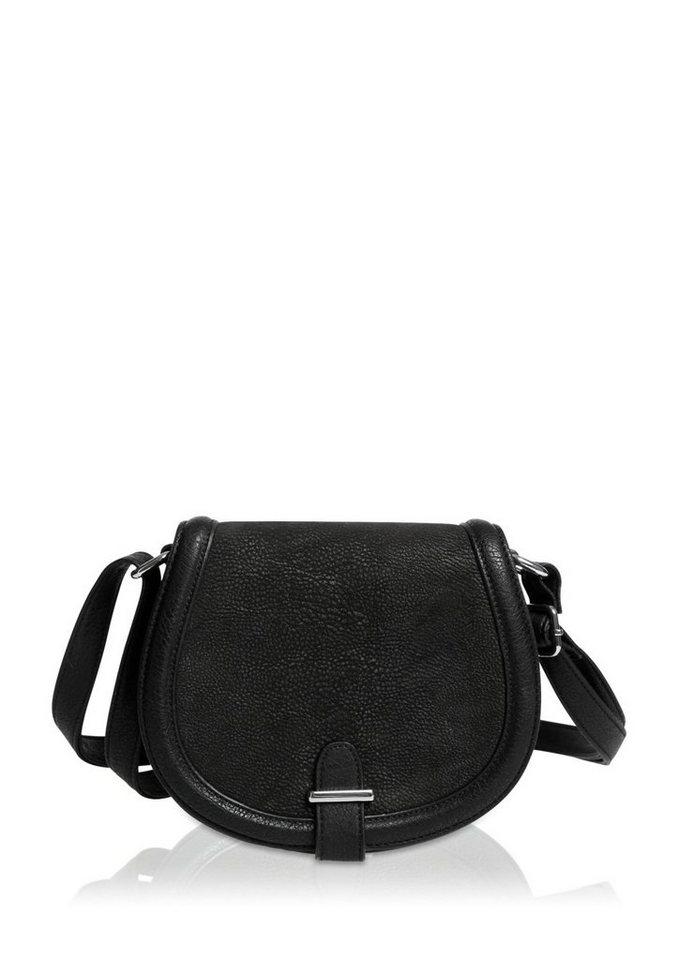 s.Oliver City Bag im Materialmix in black