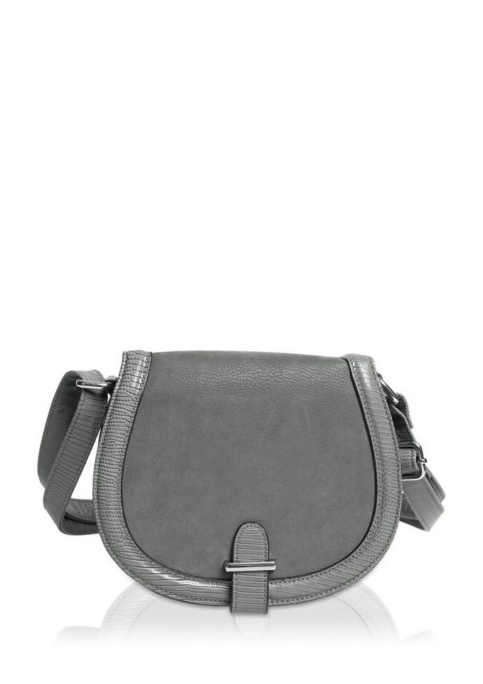s.Oliver City Bag im Materialmix in limestone