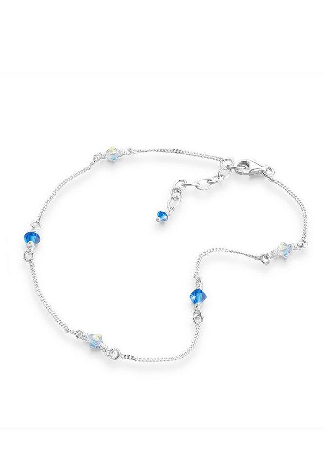 Elli Fußschmuck »Swarovski® Kristall Silber« in Blau