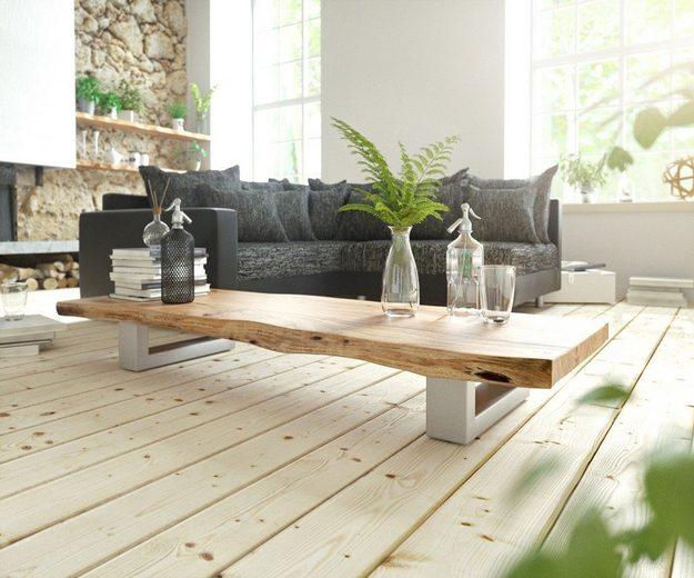 delife wohnzimmertisch live edge akazie natur 165x60. Black Bedroom Furniture Sets. Home Design Ideas