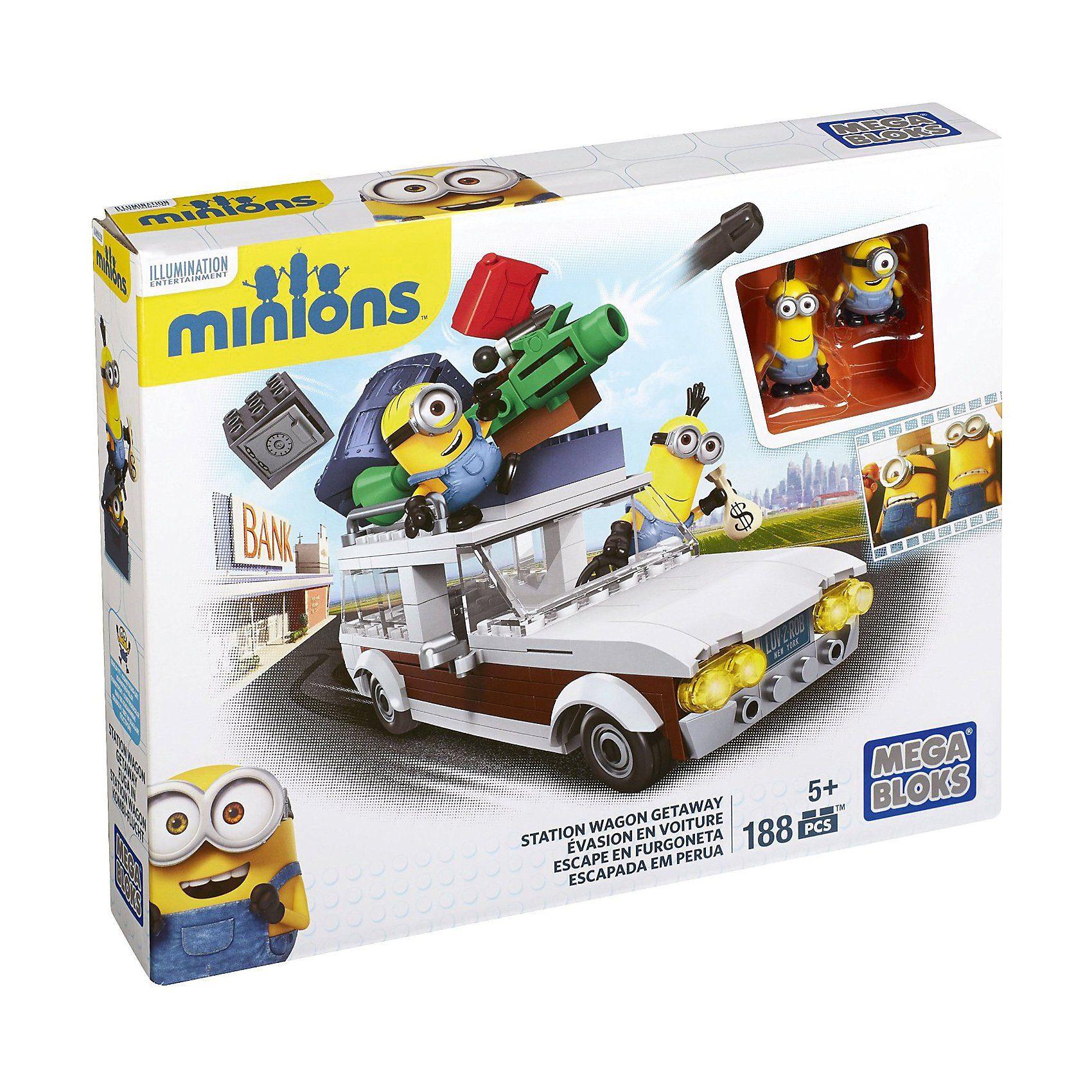 Mattel Mega Bloks Minions Movie - Kevin und Stuart im Fluchtwagen