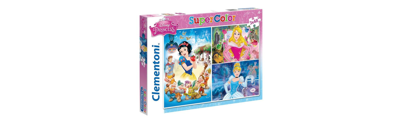 Clementoni Puzzleset 3 x 48 Teile - Disney Princess