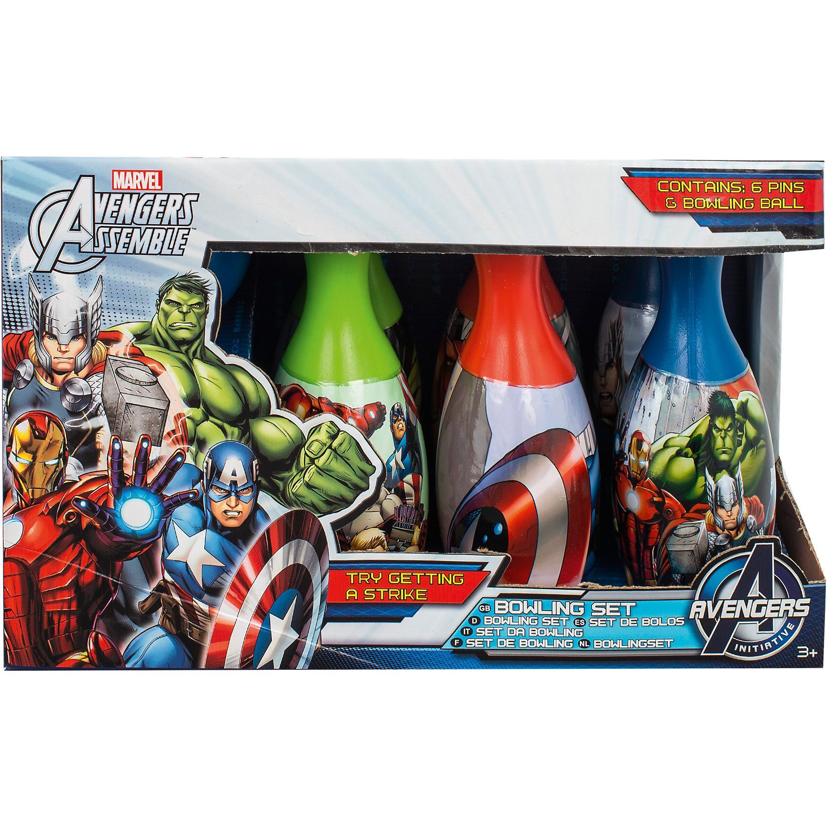 "Bowling-Set ""Avengers"", 7-tlg."