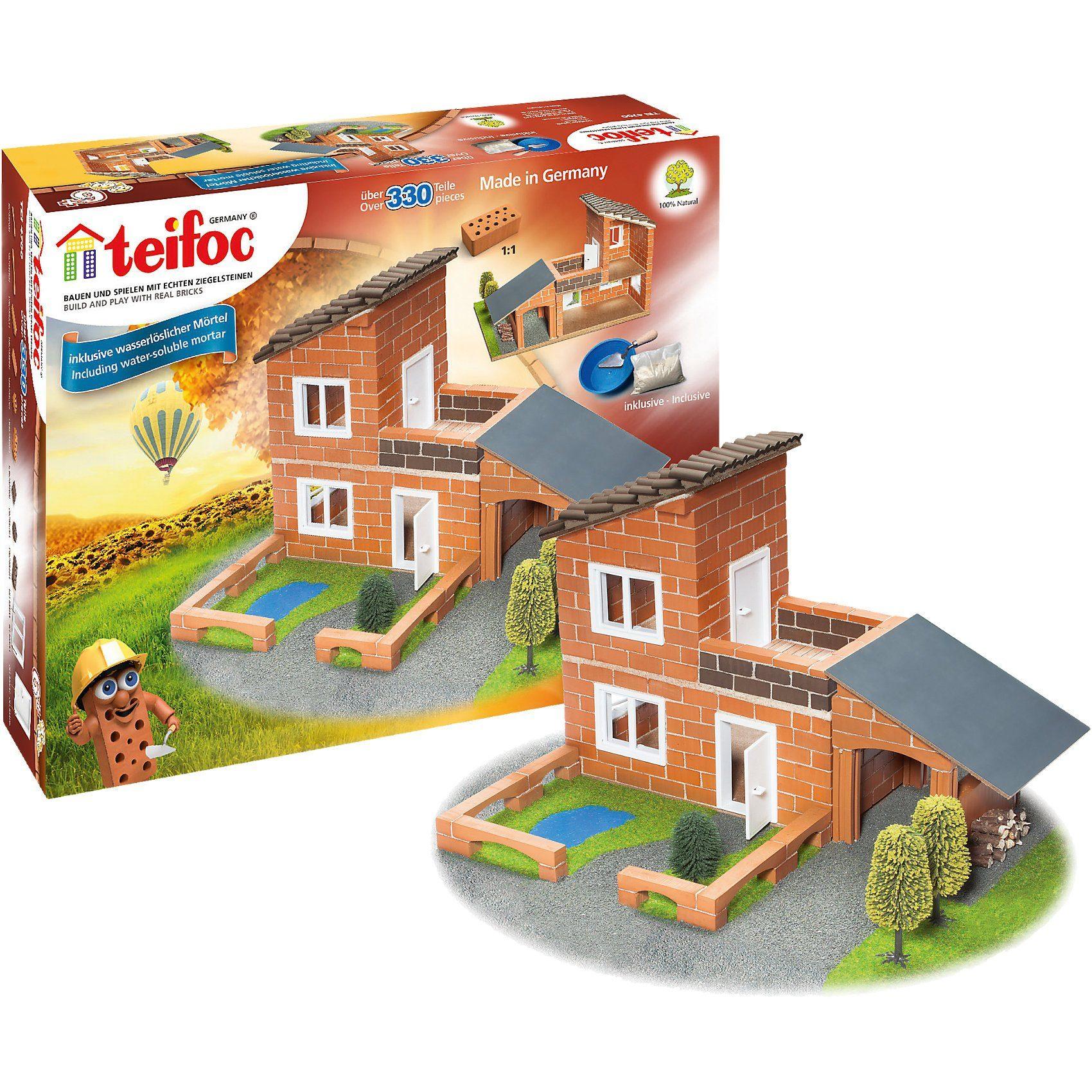 teifoc Steinbaukasten Villa mit Garage