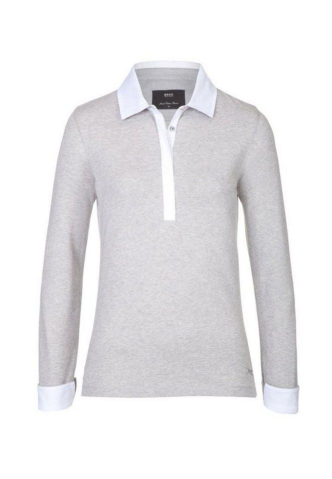 BRAX Poloshirt »CECILLE« in STEEL GREY MEL.