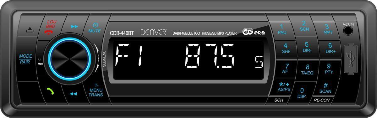 Denver Autoradio »CDB-440BT m.DAB+, Bluetooth, USB, SDcard, AUX«
