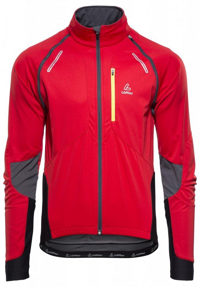 Löffler Radjacke »San Remo WS Softshell Light Bike Zip-Off-Jacke« in rot