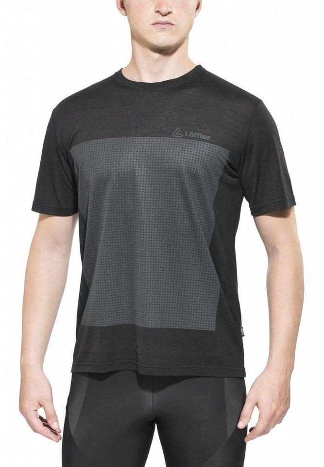 Löffler Radtrikot »Urban Bike Shirt Herren« in schwarz