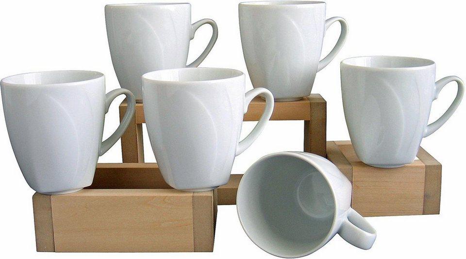 6 kaffeebecher celebration in wei kaufen otto. Black Bedroom Furniture Sets. Home Design Ideas