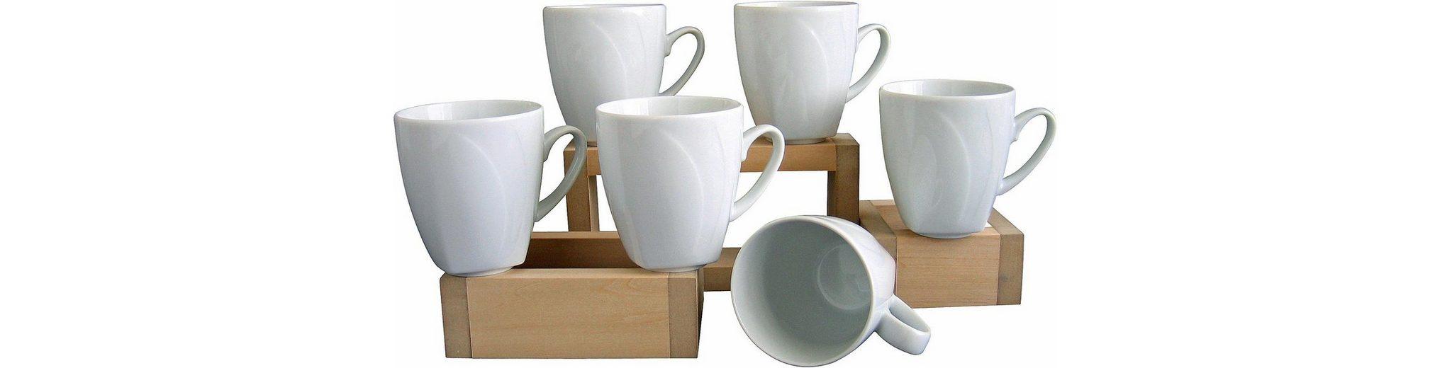 6 Kaffeebecher, »Celebration«, in weiß