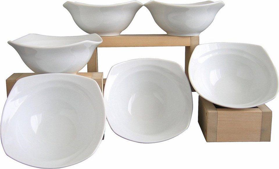 6 Müslischalen, »Celebration«, in weiß in weiß