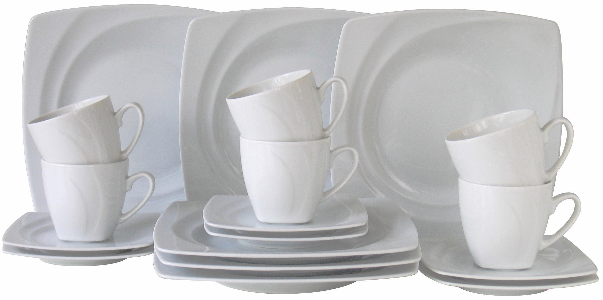 Kaffeeservice, 18-teilig, »Celebration«, in weiß