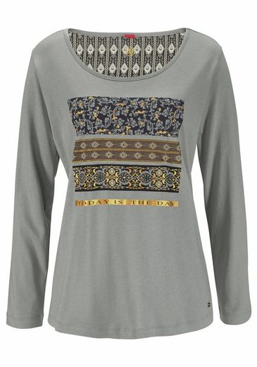 S.oliver Étiquette Rouge Bodywear Pyjama Im Ethno-design Mit Folienprint