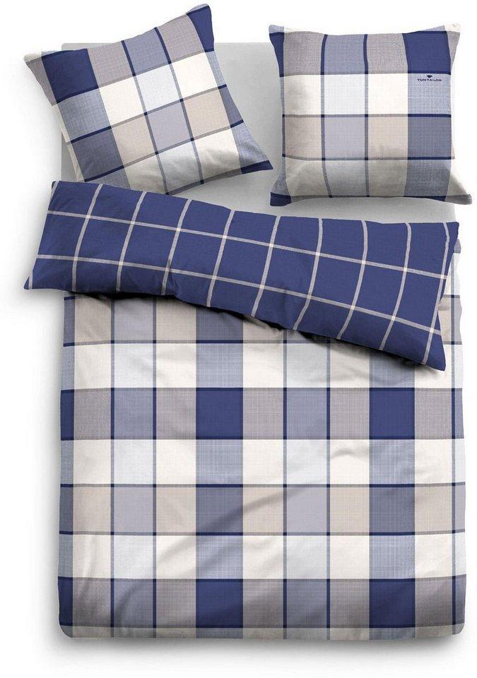 Bettwäsche, Tom Tailor, »Sissy«, mit Karo-Muster in blau
