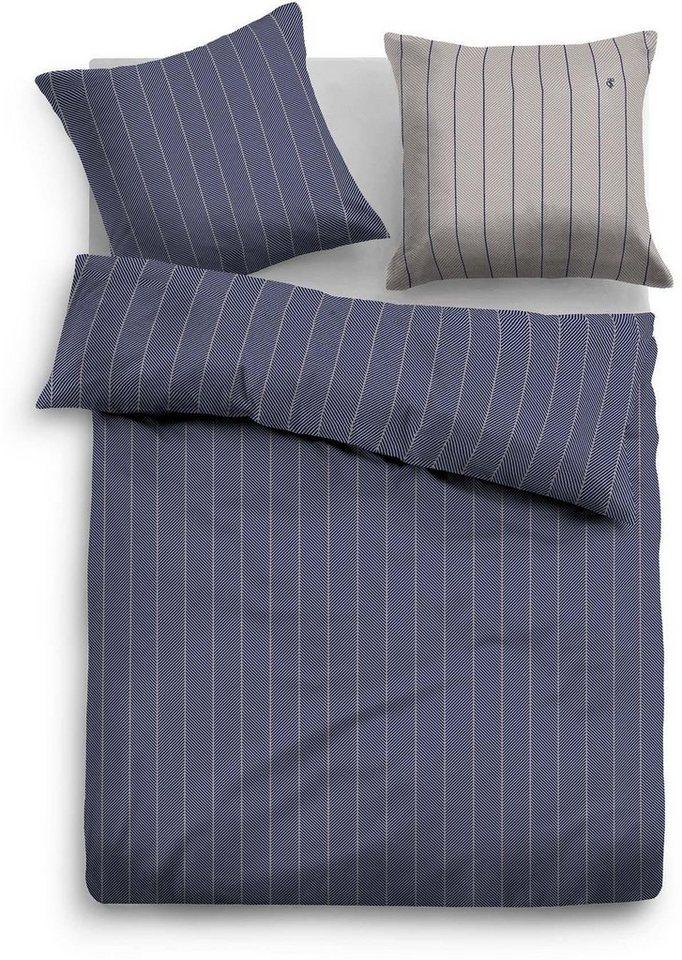 Bettwäsche, Tom Tailor, »Striev«, mit feinen Streifen in blau
