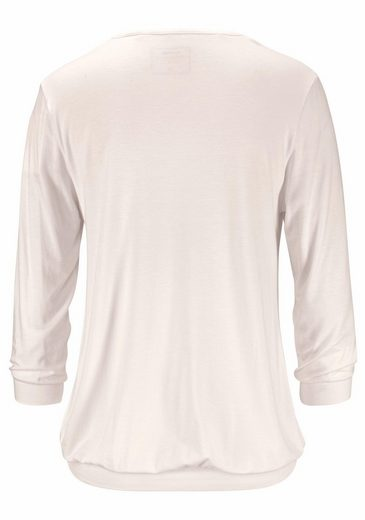 CALIDA ¾-Arm-Shirt May mit Rundhalsausschnitt